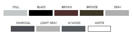 Air Vent Color Chart