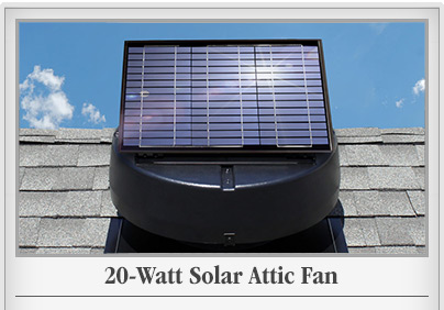 20 Watt Solar Attic Fan